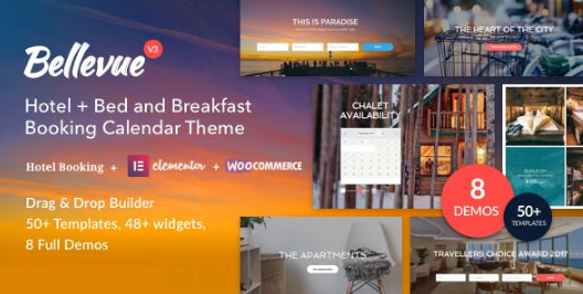 Hotel + - v3.2.8 Bed and Breakfast Booking Calendar Theme Nulled