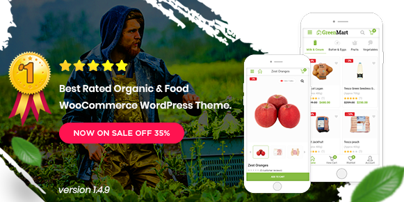 Greenmart v2.4.1 - Organic & Food Woocommerce WordPress Theme