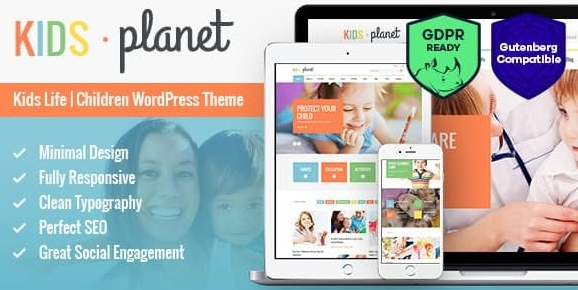 Kids Planet v2.2.4 - A Multipurpose Children WordPress Theme for Kindergarten and Playgroup