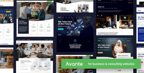 Avante v1.8.2 - Business Consulting WordPress Theme Nulled