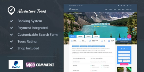 Adventure Tours v4.0.1 - WordPress Tour/Travel Theme