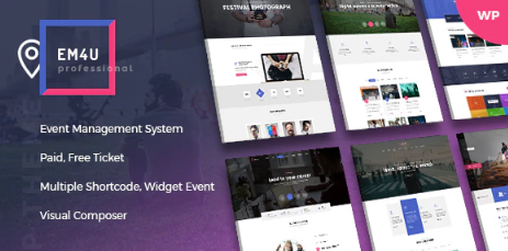 EM4U v1.3.7 - Event Tickets WordPress Theme
