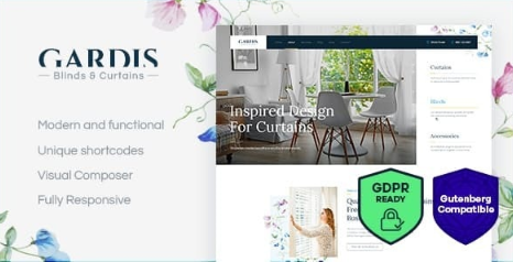 Gardis v1.2.2 - Blinds and Curtains Studio & Shop WordPress Theme