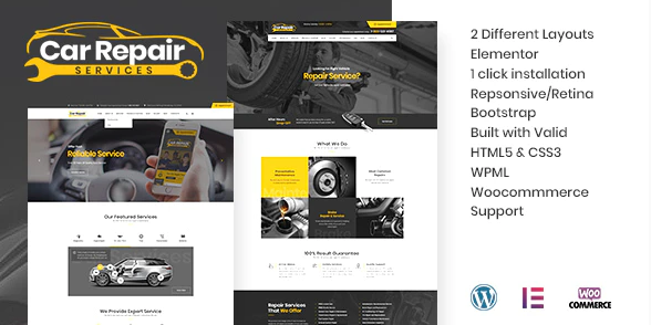 Car Repair Services & Auto Mechanic WordPress Theme 3.5
