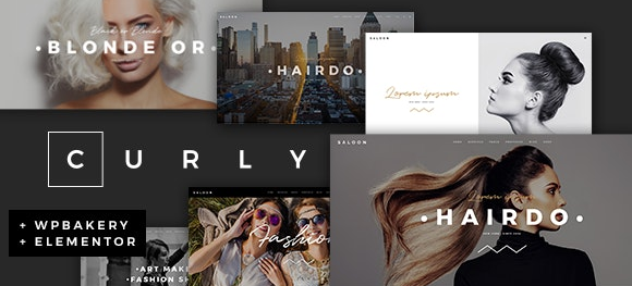 Curly v2.2.1 - A Stylish Theme for Hairdressers and Hair Salons