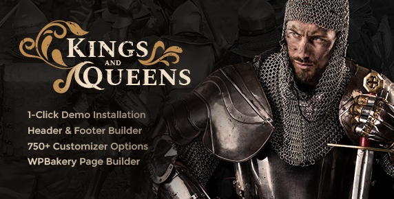 Kings & Queens v1.1.5 | Historical Reenactment WordPress Theme