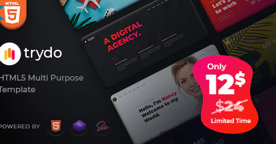 Trydo v1.0.0 - Creative Agency & Portfolio WordPress Theme