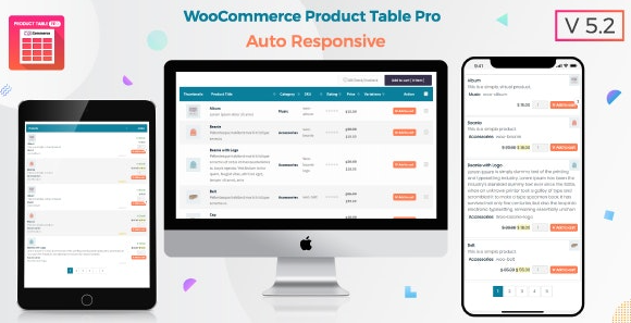 Woo Product Table Pro v7.0.2 - WooCommerce Product Table view solution