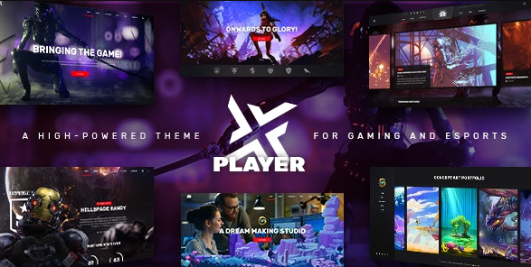 PlayerX v1.10.1 - A High-powered Theme for Gaming and eSports