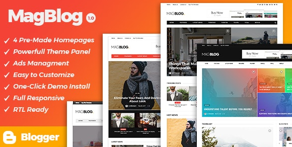 MagBlog v1.0.0 - News & Editorial Magazine Blogger Theme